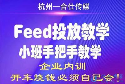 合仕传媒:Feed投放教学